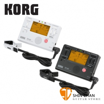 Korg TM-60C 全功能冷光調音/節拍器 + 調音夾  薩克斯風 長笛 豎笛 任何樂器適用 【TM-60 TM60 TM60C】