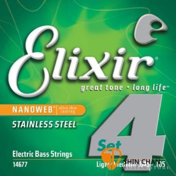 Elixir Nanoweb 不鏽鋼 電貝斯弦(.045~.105)14677【BASS弦/Elixir貝斯弦專賣店/進口貝斯弦】