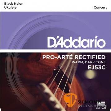 D'Addario EJ53C 23吋烏克麗麗弦 黑色尼龍弦/1套4條弦【Concert Ukulele/DAddario】