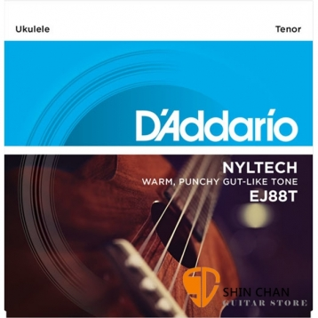 D'Addario EJ88T 26吋烏克麗麗弦/尼龍弦 Tenor【EJ-88T/UKULELE/DAddario】