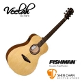 Veelah吉他 V1-FE 電木吉他/中型桶身/面單板/Fishman拾音器-附贈Veelah木吉他袋/V1專用(全配件)/台灣公司貨