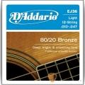 民謠吉他弦►D'addario EJ36 青銅 12弦民謠吉他專用弦 (10-47)【DAddario/進口弦/EJ-36】