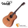 Veelah吉他 V1-DM 全桃花心木D桶身/面單板-附贈Veelah木吉他袋/V1專用(全配件)/台灣公司貨