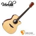 Veelah 吉他 V6-OMC 單板 民謠吉他-附贈Veelah木吉他琴袋 OM桶身 台灣公司貨 Veelah V6OMC 木吉他