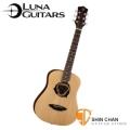 美國品牌Luna Mini 36吋小吉他 Dolphin 海豚音孔 SAF-DPN(雲杉面板/桃花心木側背板)附贈原廠Luna Baby吉他袋 / 旅行吉他 / 兒童吉他