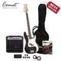 Comet 超值電貝斯 PB01 + 全配件套裝組 + 20瓦音箱 + 貝斯調音器 + Pick + 搖滾貝士教材 + 琴布 + 導線 + 台灣BASS袋