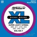 D'Addario EXL120-7 電吉他弦(09-54)(特殊7弦)【DAddario】