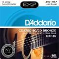 DAddario EXP36 12弦 黃銅民謠吉他弦 (.010-.047)【EXP-36】