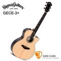 Sigma GECE-3 + 新款 可插電木吉他 41吋 GECE 3 + 歐洲阿爾卑斯雲杉面單板 / 黑檀木側背板 /美國 Fishman Flex Plus 拾音器 Grand OM-14 桶身) 附贈吉他袋【源自Martin製琴工藝】