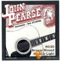 John Pearse 160SL 80/20 BRONZE 黃銅 民謠吉他弦 (11-50)【John Pearse進口弦專賣店/木吉他弦/160-SL】