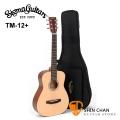 Sigma 吉他> Sigma木吉他 TM12+ 新款 34吋 小吉他/旅行吉他(TM12雲杉面單)附贈 吉他袋【台灣公司貨 tm-12+】