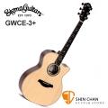 Sigma GWCE-3 + 新款 可插電木吉他 41吋 GWCE 3 + 歐洲阿爾卑斯雲杉面單板 / 胡桃木側背板 /美國 Fishman Flex Plus 拾音器 Grand OM-14 桶身) 附贈吉他袋【源自Martin製琴工藝】