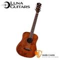 美國品牌Luna Mini 36吋小吉他 TATTOO 雕刻音孔(桃花心木面板/桃花心木側背板)附贈原廠Luna Baby吉他袋 / 旅行吉他 / 兒童吉他