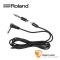 "Roland PJ-1M Angled 1/4""(6.3mm) 轉 RCA 原廠單聲道訊號線 附Angled 1/4""(6.3mm)轉接頭【Angled 1/4"" to RCA w/ Phone Adapter】"