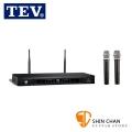 TEV TR-760 UHF雙頻道接收 (黑色) 無線接收機 附二支無線麥克風(適用於家庭卡拉OK)