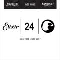 Elixir 木吉他弦 15124 第3弦 第三弦 黃銅 Nanoweb /單弦 .24 elixir零弦 台灣公司貨