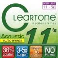 CLeaRTone(0.11-0.52)頂級民謠弦(黃銅)【CleaR Tone吉他弦專賣店/進口弦/7611】