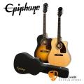 Epiphone AJ-210CE 可插電民謠吉他 附原廠硬盒 附贈Pickx2、移調夾、背帶、導線【AJ210CE/電木吉他】