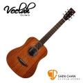 Veelah baby吉他 Togo-M 34吋旅行小吉他/全桃花心木/面單板(Baby吉他) 附原廠Veelah吉他袋