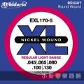 美國D'Addario EXL170-5 貝斯五弦(0.045~130)【貝斯弦專賣店/進口貝斯弦/EXL-170-5/DAddario】