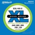美國D'Addario EXL165-5 貝斯五弦(45~135)【DAddario/進口貝斯弦/EXL-165-5】
