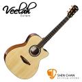 Veelah 吉他 V58-OMCE 單板 可插電 民謠吉他-附贈Veelah木吉他琴袋 OM桶身 台灣公司貨 Veelah V58OMCE 木吉他