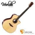 Veelah 吉他 V6-GAC 單板 民謠吉他-附贈Veelah木吉他琴袋 GA桶身 台灣公司貨 Veelah V6GAC 木吉他
