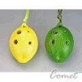 四孔陶笛 檸檬造型 兩色 (ZK0-2A) 內附簡易指法表【4孔陶笛】