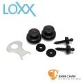 安全背扣 ► LOXX E-B-Chrome-XL 吉他/貝斯安全背帶扣 XL系列 厚背帶專用款 德國製【電鍍鉻】