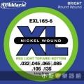 美國D'Addario EXL165-6 貝斯六弦(0.032~135)【貝斯弦專賣店/進口貝斯弦/EXL-165-6/DAddario】