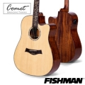 Comet 美國Fishman拾音器+頂級雲杉鑲貝41吋單板吉他/切角 CD-320EQ (附贈吉他袋、背帶、Pick、移調夾、導線)CD320 原廠公司貨/保固一年