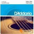 DAddario EJ38 12弦 磷青銅民謠吉他弦 (.010-.047)【EJ-38】