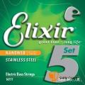 Elixir Nanoweb 不鏽鋼 5弦電貝斯弦(.045~.130)14777【BASS弦/Elixir貝斯弦專賣店/進口貝斯弦】