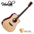 Veelah 吉他 V6-DC 單板 民謠吉他-附贈Veelah木吉他琴袋 D桶身 台灣公司貨 Veelah V6DC 木吉他