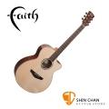 Faith 英國名牌 FVHG PERC 41吋 全單板 可插電 民謠吉他 雙拾音器系統 附贈原廠吉他硬盒 CASE【型號:FVHG-PERC/木吉他/電木吉他】
